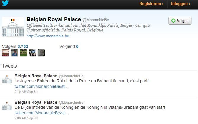 Twitter Koning Filip
